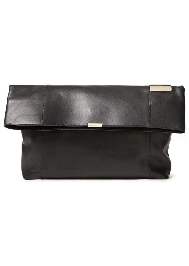 Victoria Beckham Woman Folded Tallulah Small Leather Clutch Black