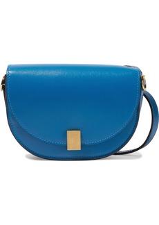 Victoria Beckham Woman Half Moon Box Leather Shoulder Bag Blue