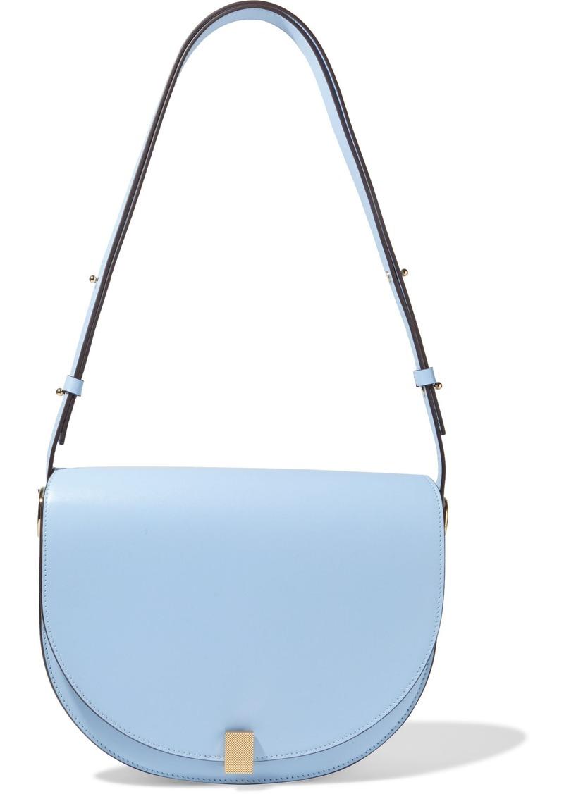 Victoria Beckham Woman Half Moon Box Leather Shoulder Bag Light Blue