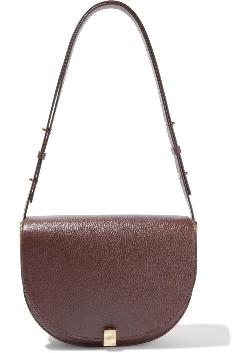 Victoria Beckham Woman Half Moon Box Pebbled-leather Shoulder Bag Brick