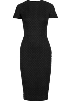 Victoria Beckham Woman Matelassé And Stretch-knit Dress Black