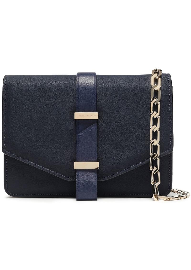 Victoria Beckham Woman Mini Pebbled-leather Shoulder Bag Navy