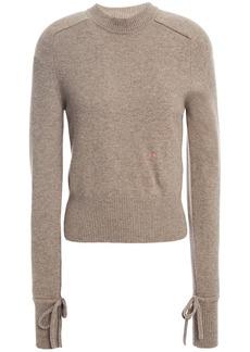 Victoria Beckham Woman Mélange Cashmere-blend Sweater Mushroom