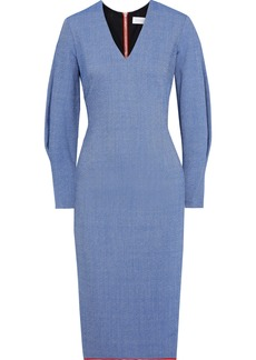Victoria Beckham Woman Mélange Crepe Dress Light Blue