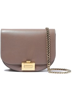 Victoria Beckham Woman Nano Box Leather Shoulder Bag Taupe