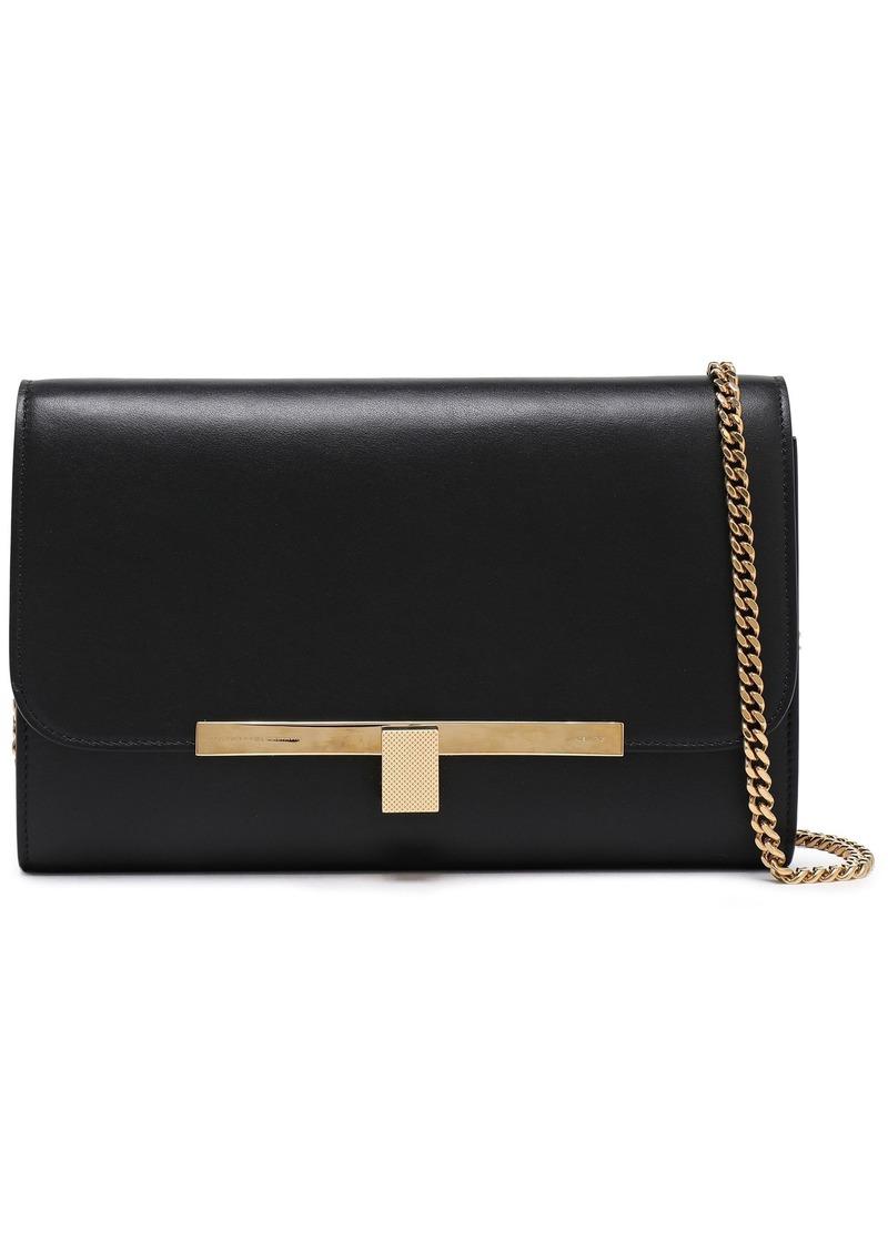 Victoria Beckham Woman New Wallet On Chain Leather Shoulder Bag Black