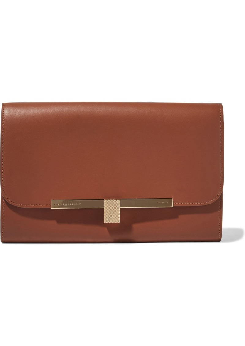 Victoria Beckham Woman New Wallet On Chain Leather Shoulder Bag Light Brown