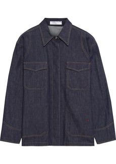 Victoria Beckham Woman Oversized Denim Jacket Dark Denim