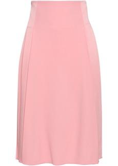 Victoria Beckham Woman Pleated Satin-crepe Skirt Bubblegum