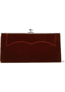 Victoria Beckham Woman Pocket Velvet Clutch Burgundy