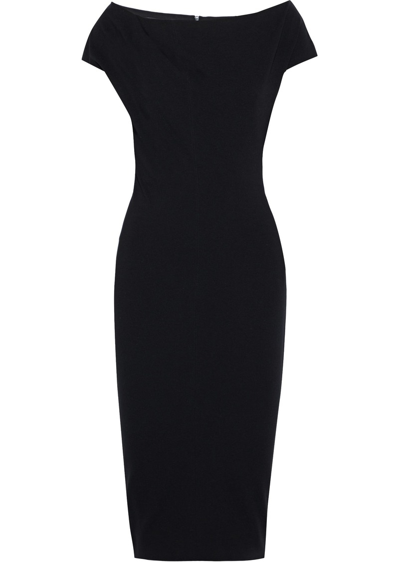 Victoria Beckham Woman Ponte Dress Black