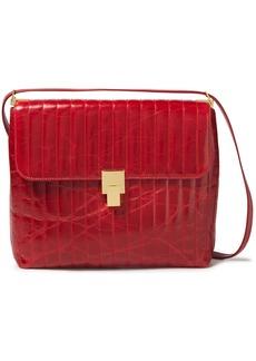 Victoria Beckham Woman Quilted Crinkled-leather Shoulder Bag Crimson