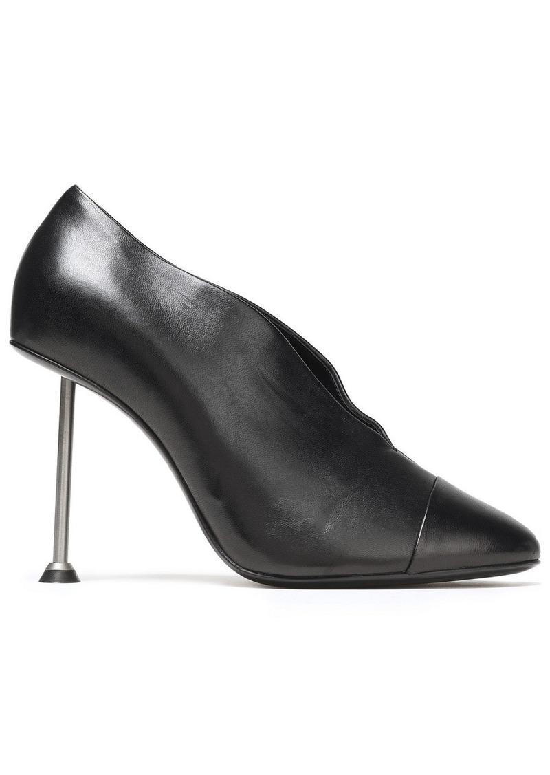 Victoria Beckham Woman Metallic-trimmed Leather Pumps Black