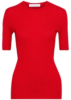 Victoria Beckham Woman Ribbed Cashmere Top Red