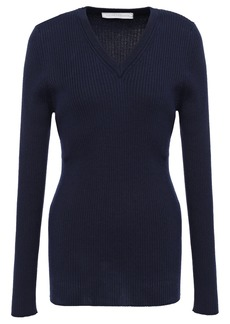 Victoria Beckham Woman Ribbed Wool Sweater Navy
