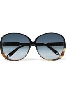Victoria Beckham Woman Round-frame Tortoiseshell Acetate And Gold-tone Sunglasses Black