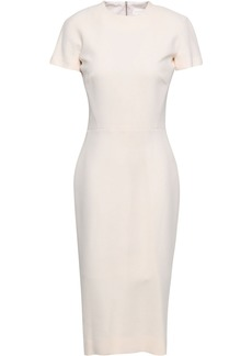 Victoria Beckham Woman Silk And Wool-blend Dress Ecru