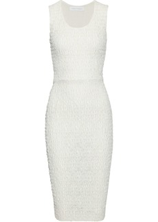 Victoria Beckham Woman Smocked Lace Dress White