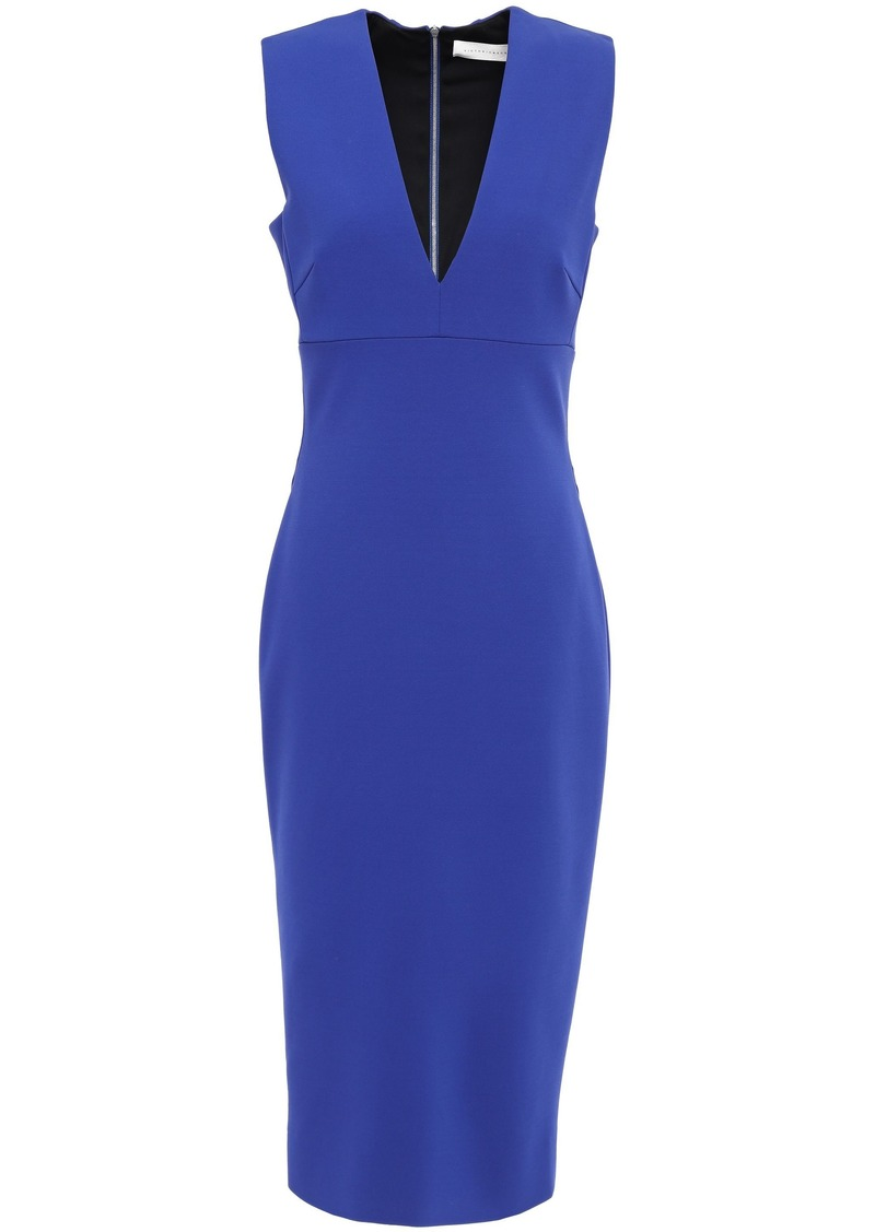Victoria Beckham Woman Stretch-cady Dress Royal Blue