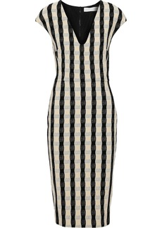 Victoria Beckham Woman Textured-jacquard Dress Black