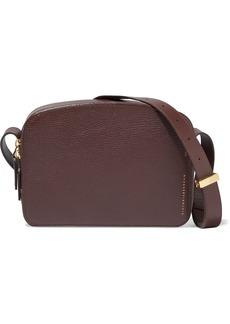 Victoria Beckham Woman Textured-leather Shoulder Bag Burgundy