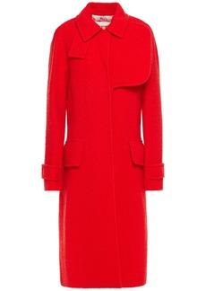 Victoria Beckham Woman Wool-blend Bouclé Coat Red