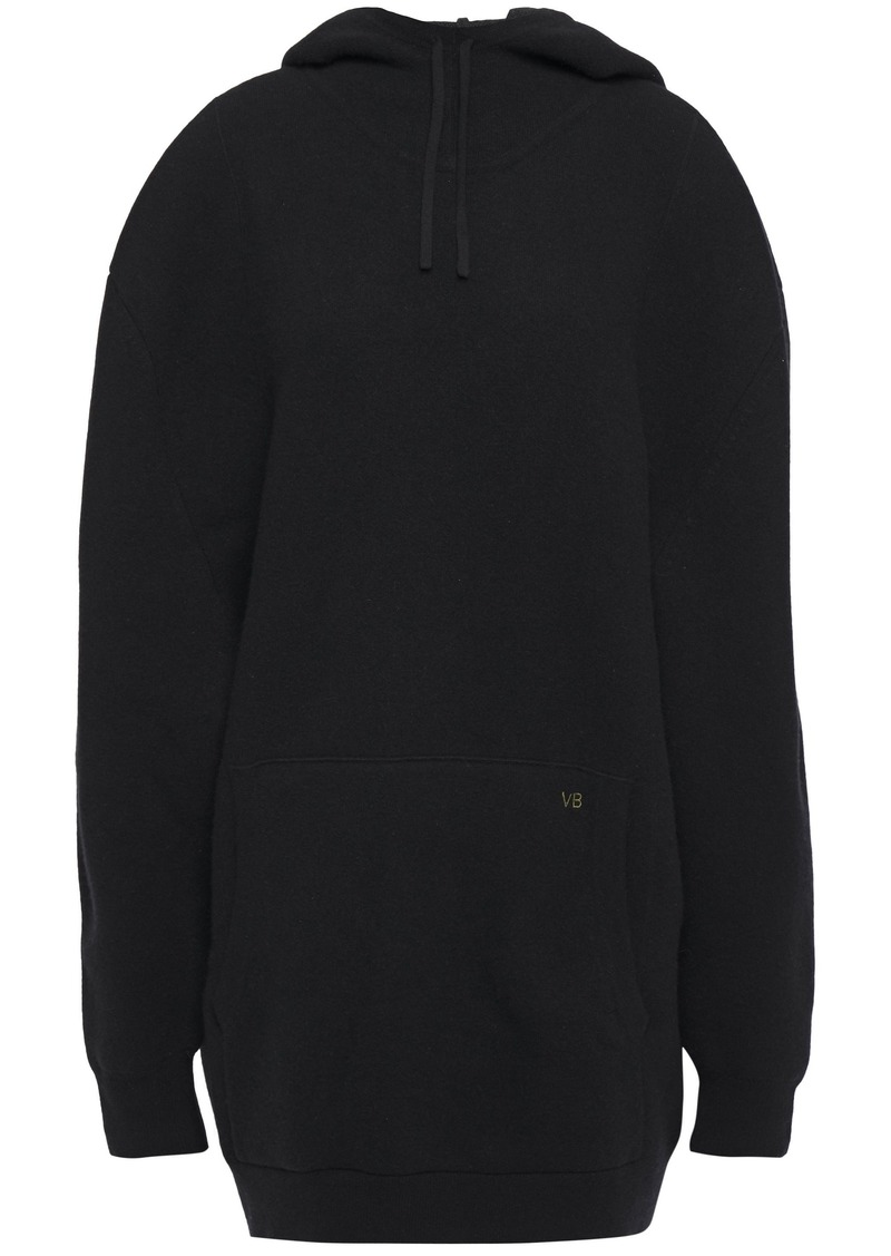 Victoria Beckham Woman Wool-blend Hoodie Black