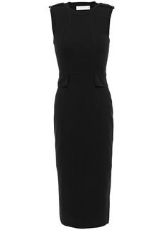 Victoria Beckham Woman Wool-blend Midi Dress Black
