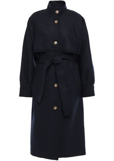 Victoria Beckham Woman Wool-blend Twill Trench Coat Navy