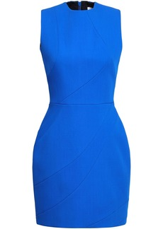 Victoria Beckham Woman Wool-crepe Mini Dress Bright Blue