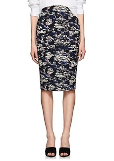 Victoria Beckham Women's Abstract Cotton-Blend Jacquard Pencil Skirt - Bright Blue