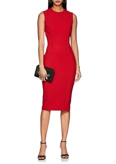 Victoria Beckham Women's Bonded Crepe Fitted Dress