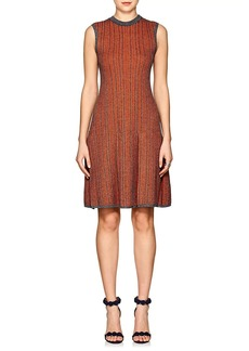 Victoria Beckham Women's Checked Wool-Cotton Fit & Flare Dress