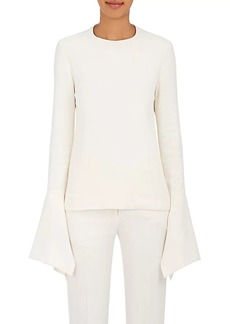 Victoria Beckham Women's Crepe Bell-Sleeve Blouse