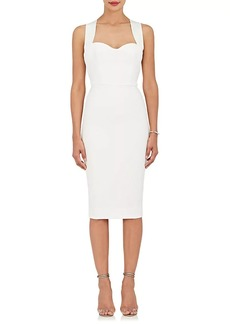 Victoria Beckham Women's Crossover-Back Sheath Dress