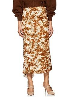 Victoria Beckham Women's Fur-Print Asymmetric Midi-Skirt - Ginger