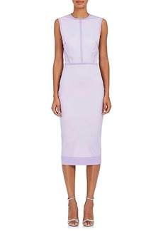 Victoria Beckham Women's Silk-Blend Voile Fitted Sheath Dress