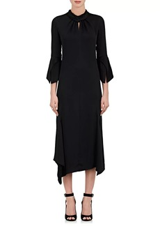 Victoria Beckham Women's Stretch-Twill High-Neck Midi-Dress
