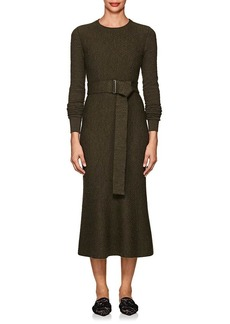 Victoria Beckham Women's Textured Wool Belted Midi-Dress