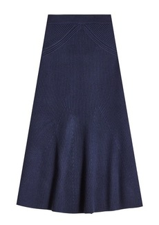 Victoria Beckham Virgin Wool Knit Skirt