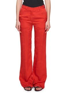 Victoria Beckham Wide-Leg Floral-Jacquard Pants
