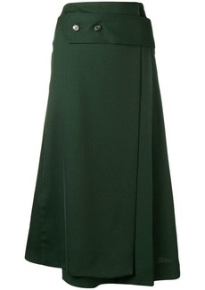 Victoria Beckham wide martingale skirt