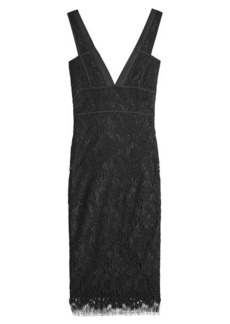 Victoria Beckham Wool-Silk Embroidered Dress