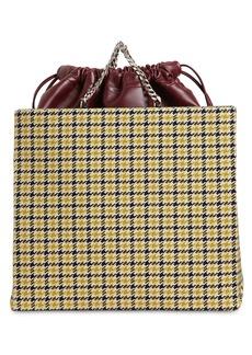 Victoria Beckham Wool Tweed Shopper Tote Bag