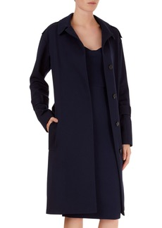 Victoria Beckham Wool Wrap Trench Coat with Belt
