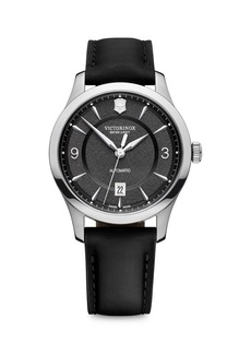 Victorinox Alliance Stainless Steel Leather-Strap Watch