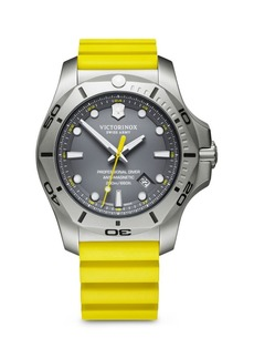 Victorinox I.N.O.X. Professional Diver Stainless Steel & Rubber Strap Watch