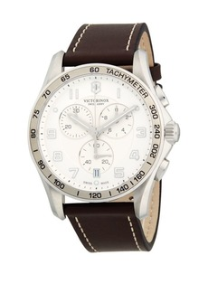 Victorinox Mav Sport Chronograph Leather Strap Watch