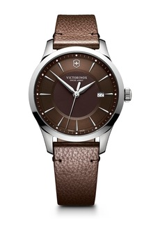 Victorinox Men's Alliance Leather Strap Watch, 40mm
