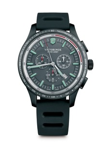 Victorinox Swiss Army Alliance Sport Stainless Steel Rubber Strap Watch